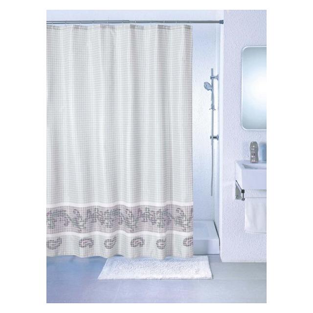 занавеска для ванной Grey Fresco 180х200 см, серая
