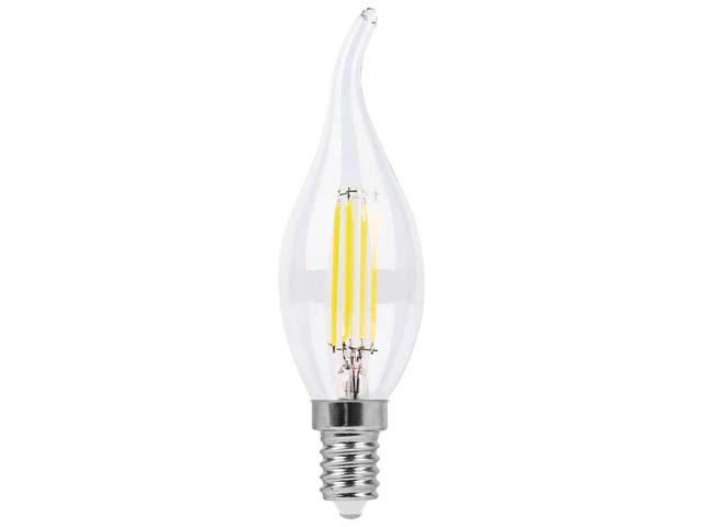 лампа светодиодная FERON 5Вт 230В E14 2700K, свеча на ветру, лампа светодиодная feron 5вт 230в e14 4000k свеча на ветру