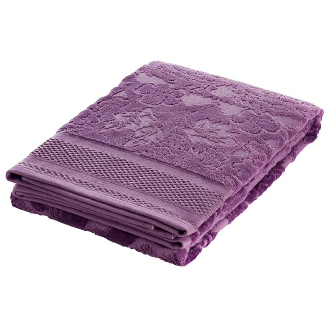 полотенце махр.с велюром FAMILON Evidence 70х140см лиловое полотенце мах familon evidence велюровое 70х140см серое