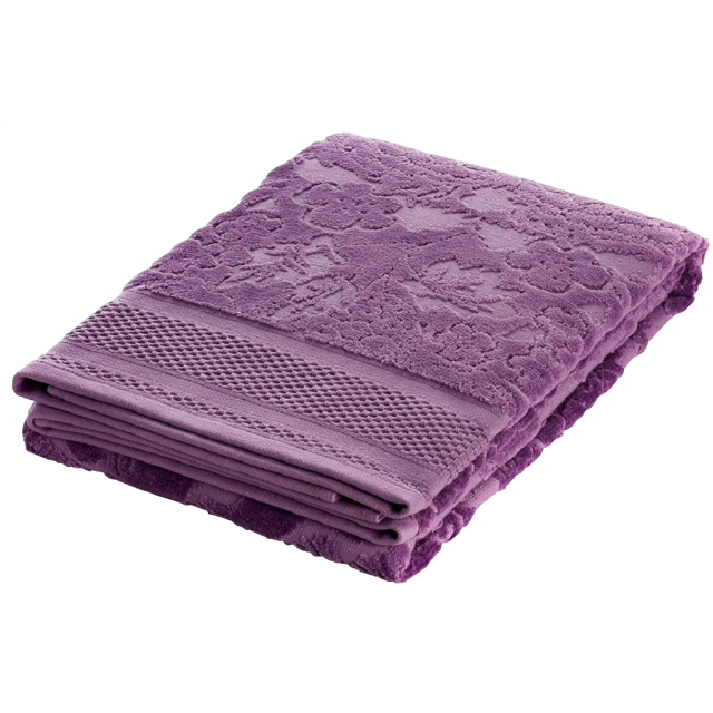 полотенце махр.с велюром FAMILON Evidence 70х140см лиловое полотенце мах familon evidence велюровое 50х70см розовое