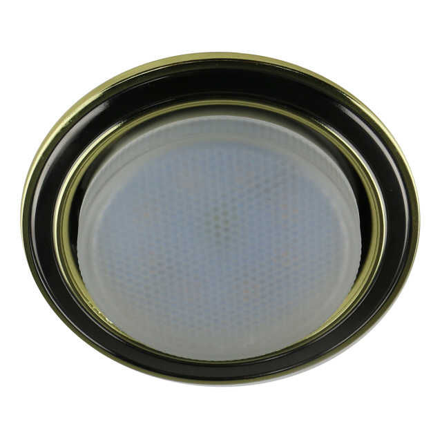 светильник встраиваемый светодиодный DE FRAN 1х15 Вт, GX53, метал черный/золото