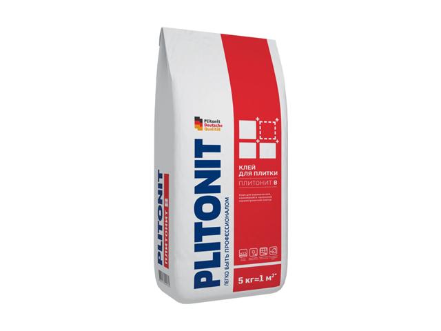 клей для кафельной плитки Плитонит-В 5кг, арт.Плитонит В-5