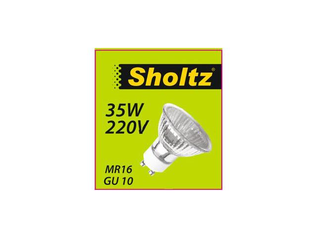 лампа галогенная SHOLTZ 35Вт GU10 350лм 2700K 220В спот