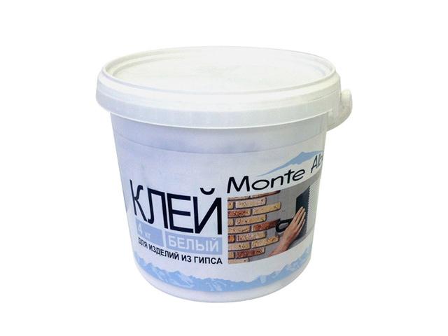 клей для изделий из гипса MONTE ALBA Белый (ведро, 4,0 кг) клей для изделий из гипса monte alba 4 кг