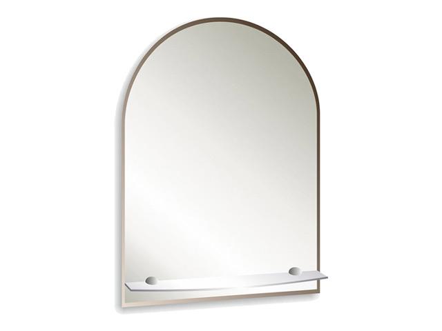 зеркало для ванной Аркада Люкс 40х60 см с полкой фацетом 10 мм