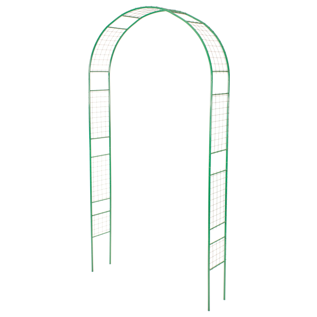 арка садовая разборная Сетка 120х25х250см металл зелёная