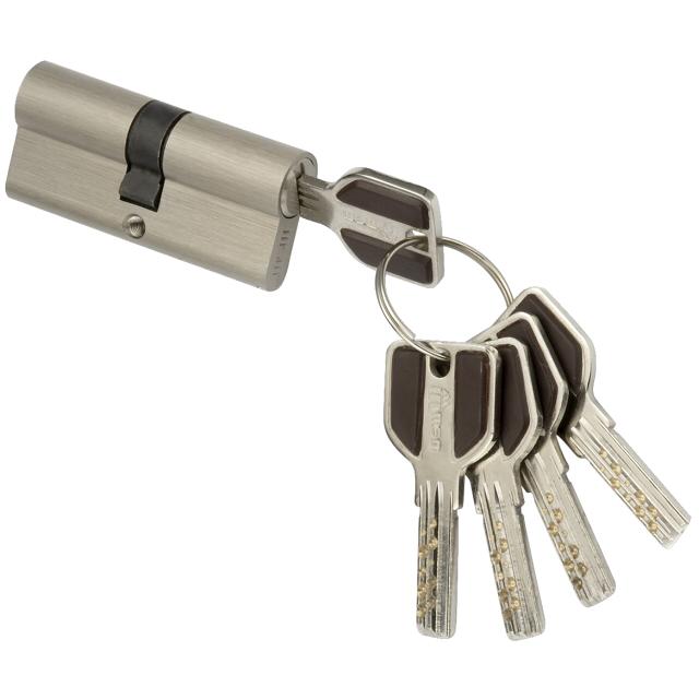 цилиндр ключевой MSM 90мм 45+45 матовый никель ручка msm r405 sn матовый никель