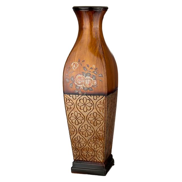 ваза LEFARD Розы коричневый фон 76см керамика