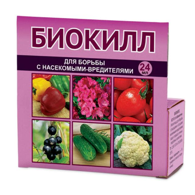 инсектицид Биокилл 24мл средство для борьбы с насекомыми фитоверм 0 2% к э фармбиомед 100 мл