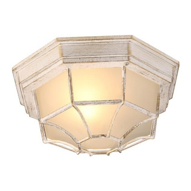светильник уличный настенный Pegasus 1х60Вт E27 230В алюм. бел+золото круг
