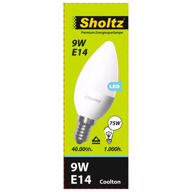 лампа светодиодная SHOLTZ 9Вт E14 700лм 4000K 220В свеча