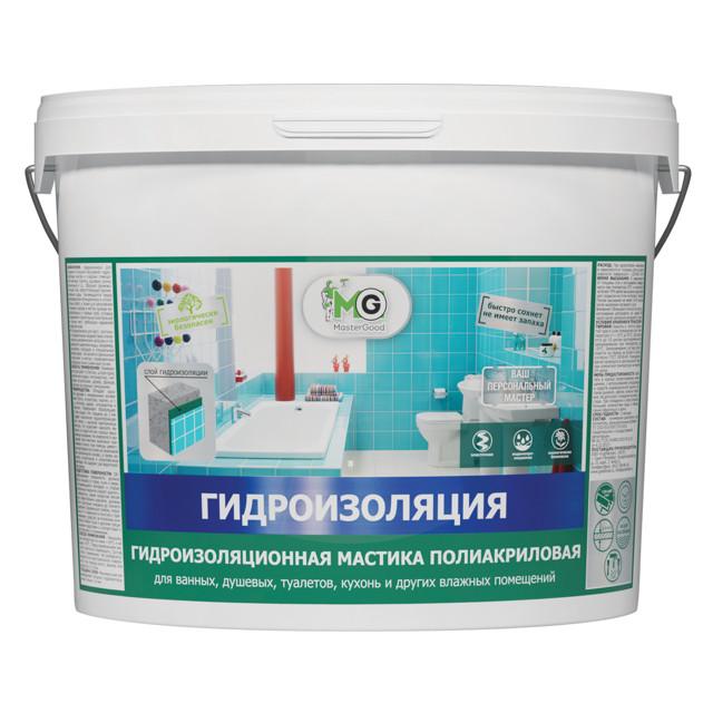 гидроизоляция MASTERGOOD полиакриловая 14 кг, арт.MG-Гидроиз-14