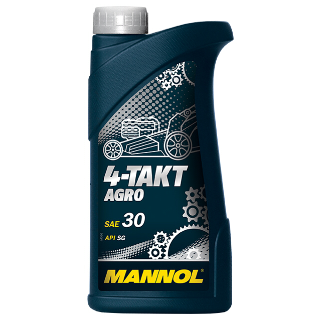 масло моторное MANNOL 4-Takt Agro SAE 30 1л минеральное моторное масло liquimoly universal 4 takt gartengerate oil 10w 30 для газонокосилок 8037