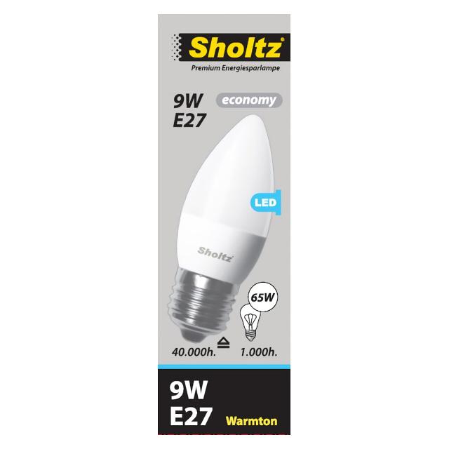 лампа светодиодная SHOLTZ 9Вт E27 725лм 3000K 220В свеча