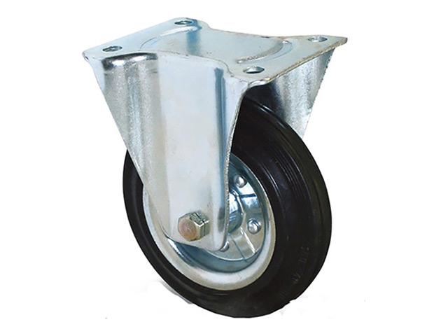 колесо неповоротное на площадке, 125 мм, резина
