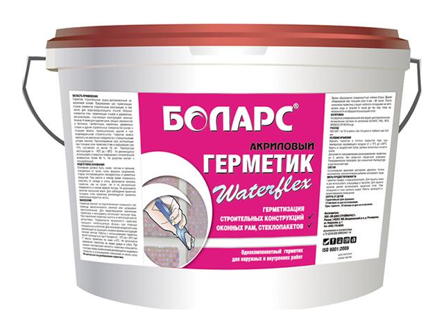 герметик акриловый БОЛАРС Waterflex 7кг белый, арт.00000000669