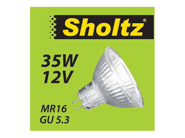 лампа галогенная 35Вт GU5.3 MR16 12В SHOLTZ светодиодная лампа new cree mr16 gu 5 3 220v 9w 12w 15w gu 5 3 cool