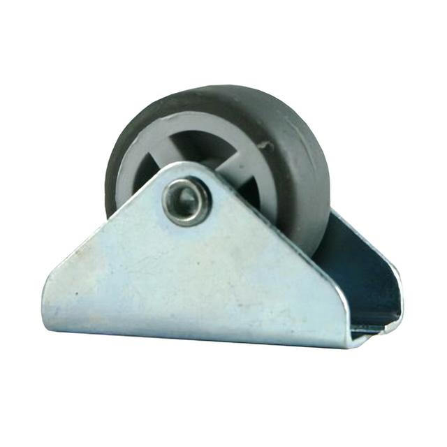 колесо неповоротное на площадке, 30 мм, резина