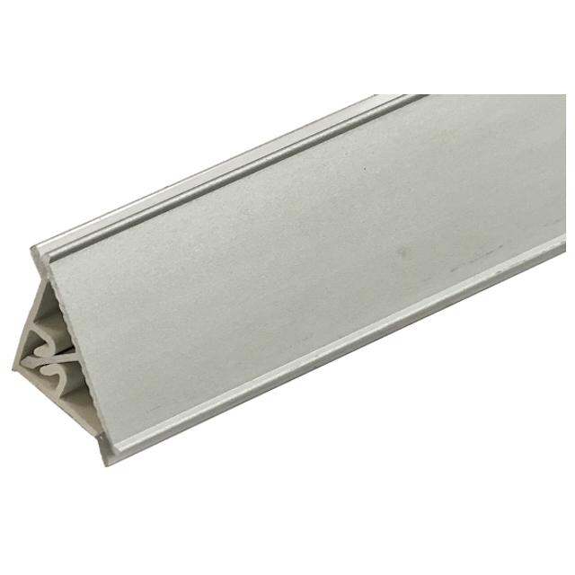 плинтус для столешниц алюминиевый треугольный гладкий 3,05 м