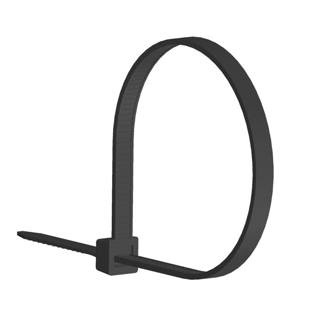 стяжка кабельная LINCOM 200х2,5мм 100шт черный
