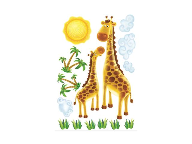 наклейка ДЕКОРЕТТО Два жирафа 50х70 наклейка декоретто ирисы 50х70