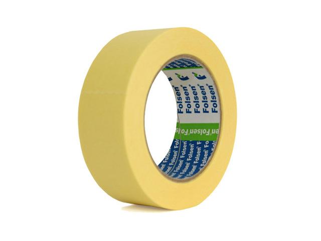 лента малярная Folsen 38 мм x 50м, желтая лента против cкольжения folsen 25ммх5м 0692505
