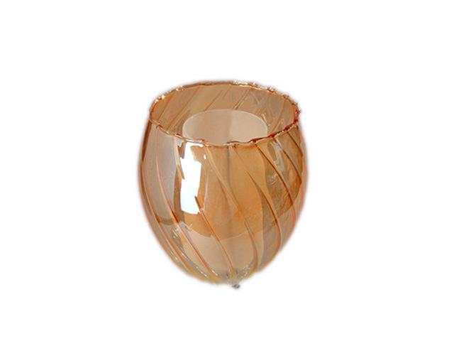 плафон Элегия Е14 60Вт стекло/янтарный 12x12см