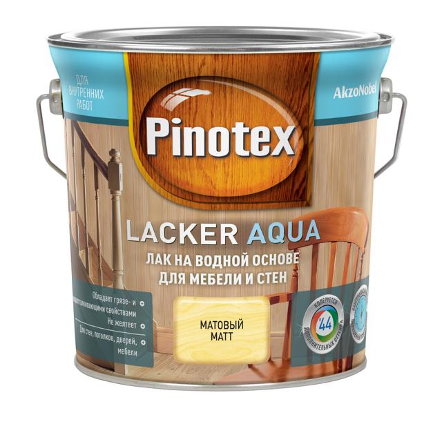 лак д/стен и мебели PINOTEX Lacker Aqua 2,7л матовый лак д саун pinotex lacker sauna 2 7л полуматовый
