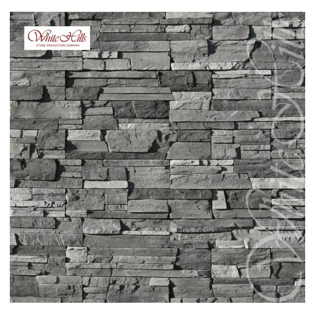 плитка декоративная бетонная WHITE HILLS Фьорд Лэнд черно-серая