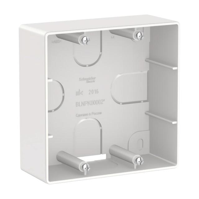 коробка BLANCA, подъемная, к розеткам для электроплит, белый