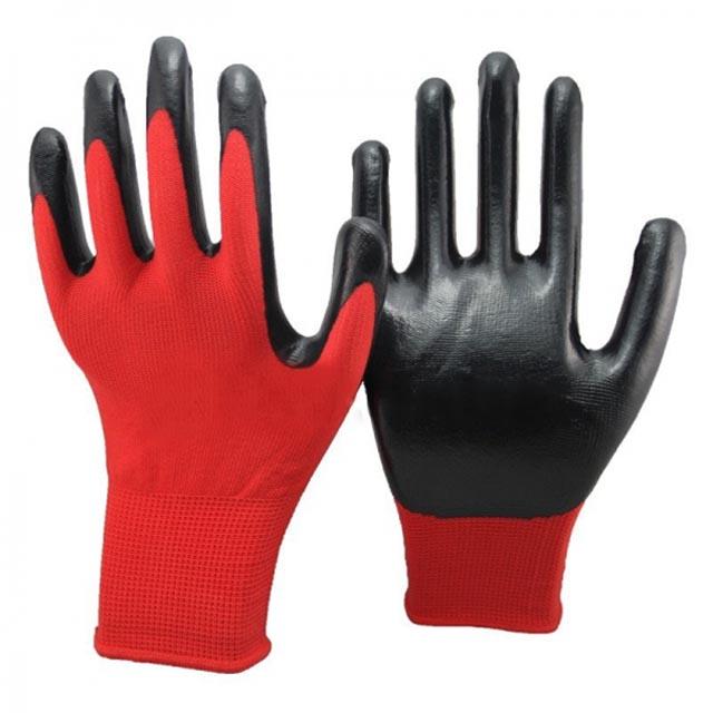 цена на перчатки нейлоновые с нитриловым покрытием 10 р-р