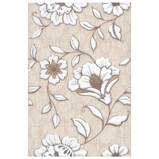 декор настенный 20х30 ТУАРИ цветы, бежевый бордюр kerama marazzi сады лоди cc238 12030 25x5 5