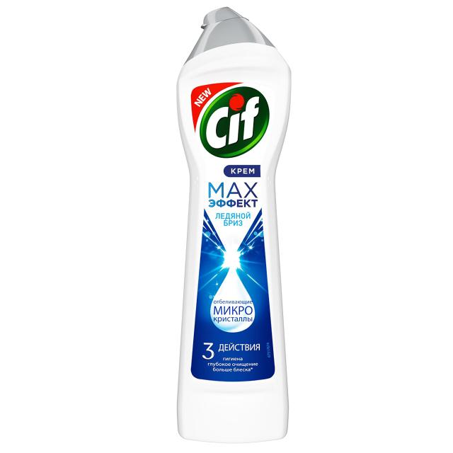 средство чистящее CIF Max Эффект Ледяной бриз 450мл крем