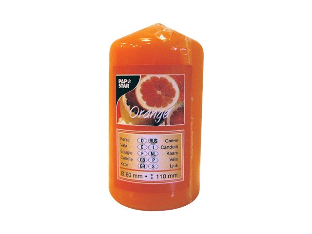 свеча-столбик PAP-STAR Апельсин 11х6см аромат. 30ч/г