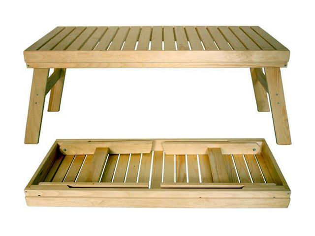 лавочка складная, 100x42 см, для бани и сауны Банные штучки