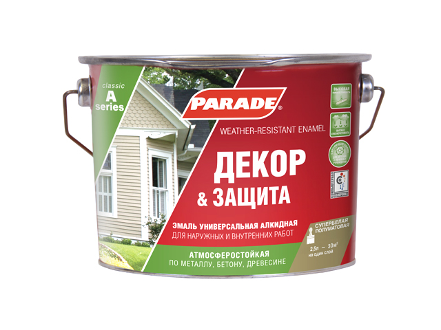 эмаль алкидная PARADE А1 база А матовая 2,5л waeco bordbar tf 14