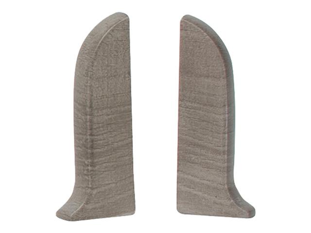 заглушки для плинтуса ПВХ SALAG NGF 56мм Шато серый левая+правая