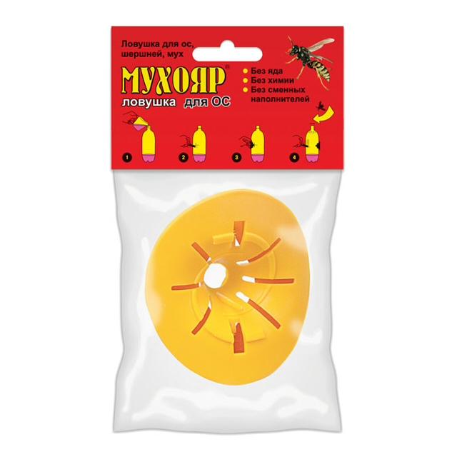 ловушка от ос и мух Мухояр вставка москитол защита от мух пластины 10шт