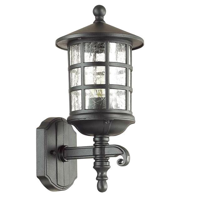 светильник уличный настенный ODEON LIGHT House E27 60Вт черный вверх