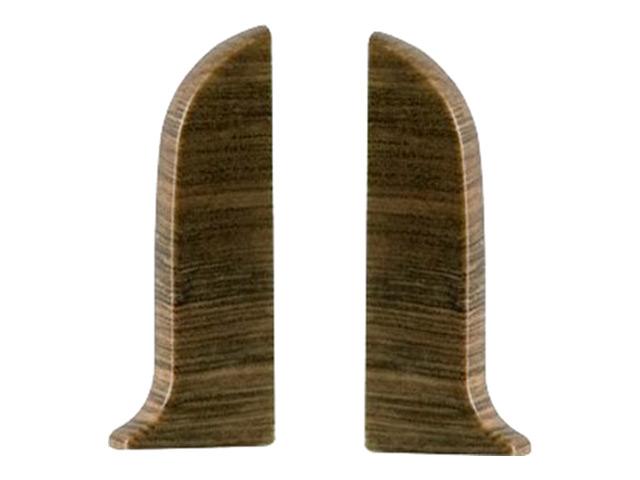 Фото - заглушки для плинтуса ПВХ SALAG NGF 56мм Дуб старый левая+правая заглушки для плинтуса пвх salag ngf 56мм дуб каньон левая правая