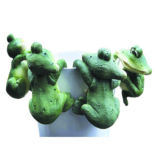 фигурка декоративная для кашпо Лягушонок 7х6х10см керамика в асс-те