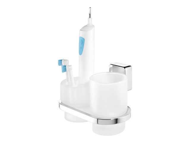 стакана д/зубных щеток двойной IMPULS металл хром
