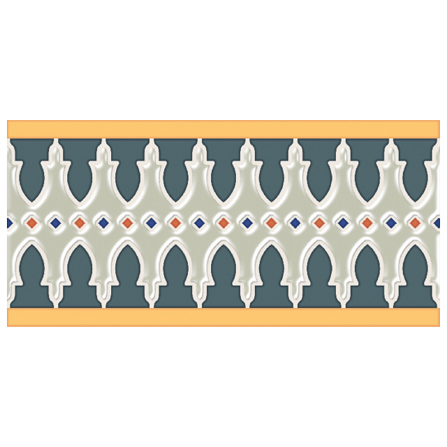 плинтус настенный 25,1х12 MENARA, разноцветный микс