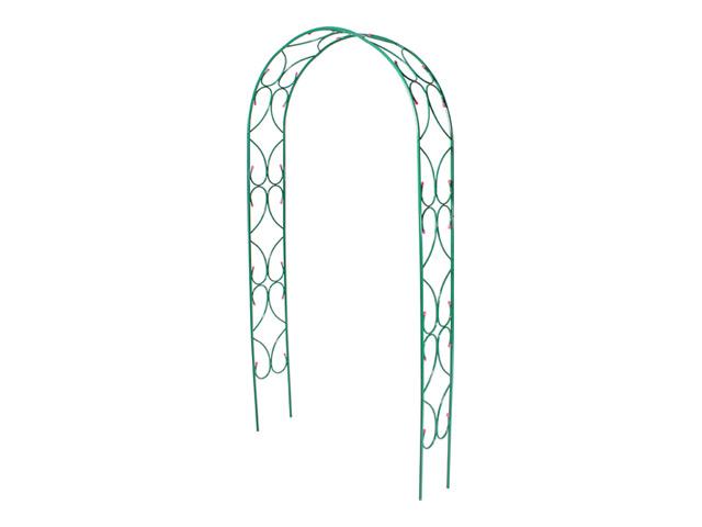 арка садовая разборная Узор-2 120х30х250см металл зелёная