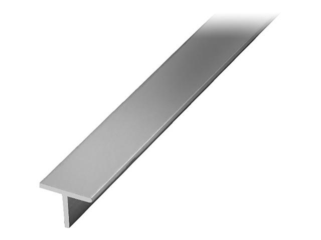 профиль алюминиевый Т-образный серебро 15х15х1,5х2000мм