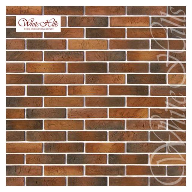 плитка декоративная бетонная WHITE HILLS Терамо Брик коричнево-медная