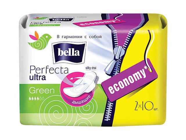 прокладки BELLA Perfecta ultra green 2х10шт