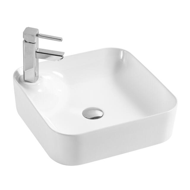 раковина накладная OFELIS Quadro 42,5 см квадрат белая накладная раковина comforty 8112