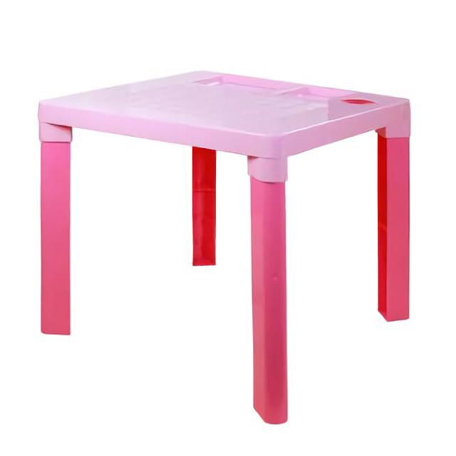 стол пластиковый детский 51х51х47см розовый