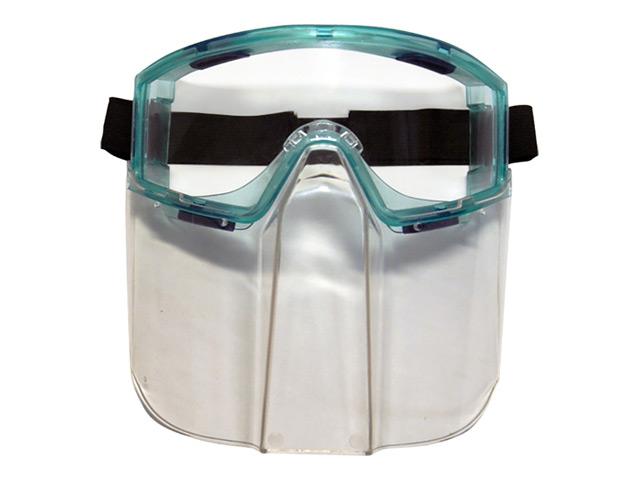 очки защитные ДЕЛЬТА закрытые прозрачные + лицевой щиток недорого